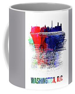 Washington, D.c. Skyline Brush Stroke Watercolor   Coffee Mug