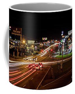 Washington Road At Night - Augusta Ga Coffee Mug
