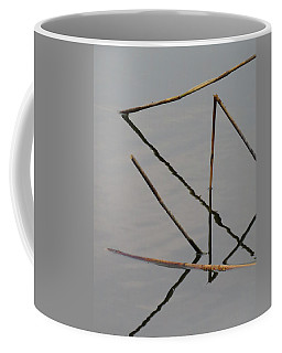 Coffee Mug featuring the photograph Water Construction by Attila Meszlenyi