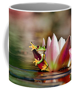Water Lily And Frog Coffee Mug