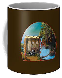 Water Wheel Overlay Coffee Mug