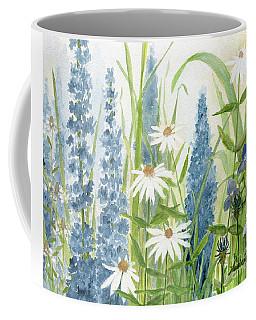 Watercolor Blue Flowers Coffee Mug