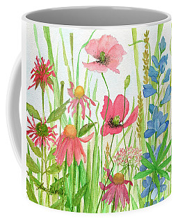 Watercolor Touch Of Blue Flowers Coffee Mug