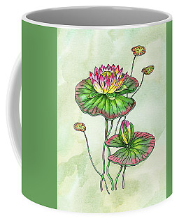 Watercolor Water Lily Botanical Flower Coffee Mug