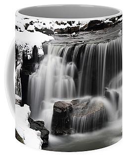 Waterfall And Snow Coffee Mug