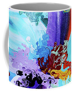 Coffee Mug featuring the painting Watery Waves by Arttantra