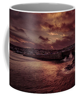 Wave At The Pier Coffee Mug