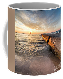 Waves And Sunset In Frankfort Coffee Mug