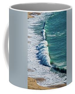 Waves At Nazare Beach - Portugal Coffee Mug