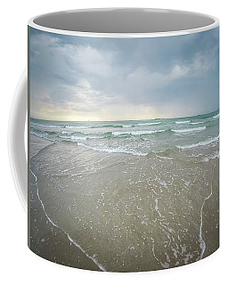Coffee Mug featuring the photograph Waves Crashing On Wrightsville Beach Before The Storm by Alex Grichenko