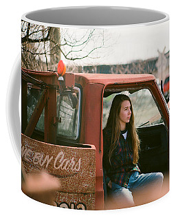 Coffee Mug featuring the photograph We Buys Cars by Carl Young