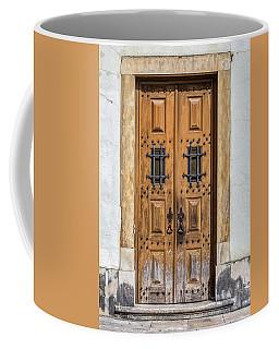 Weathered Brown Door Of Portugal Coffee Mug