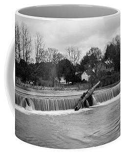 Wehr's Dam - Black And White Coffee Mug