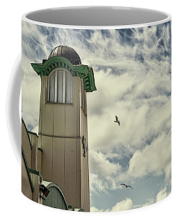 Coffee Mug featuring the photograph Wellington Pier Entertainment Centre Tower by Scott Lyons