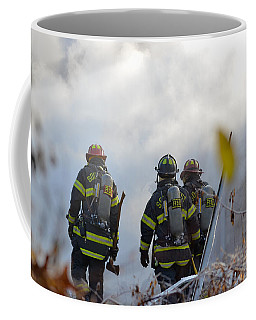 Coffee Mug featuring the photograph We're Going In by Carl Young