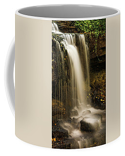 Coffee Mug featuring the photograph West Milton Falls Vertical by Dan Sproul