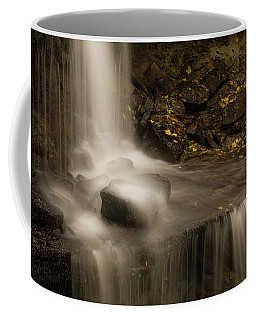 Coffee Mug featuring the photograph West Milton Waterfall Details by Dan Sproul