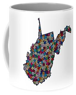 West Virginia Map - 1 Coffee Mug
