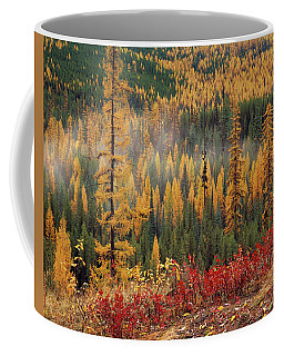Western Larch Forest Autumn Coffee Mug