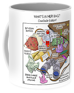 What's In Her Bag Coffee Mug
