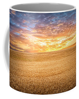 Coffee Mug featuring the photograph Wheatfield Sunset by Mike Braun