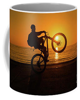 Wheelies At Sunset Coffee Mug