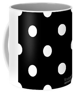 White Dots On A Black Background- Ddh612 Coffee Mug