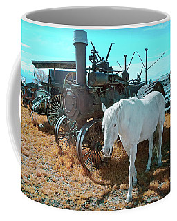 White Horse Iron Horse Coffee Mug