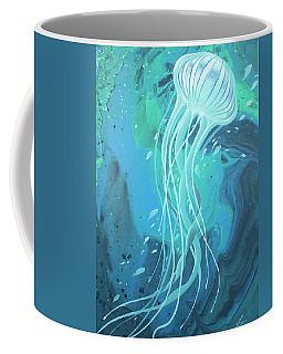 White Jellyfish Coffee Mug
