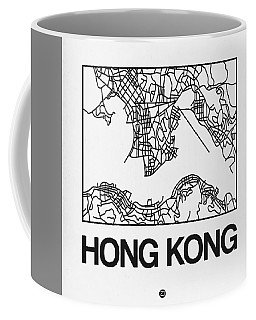 White Map Of Hong Kong Coffee Mug