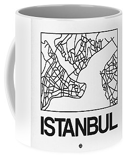 White Map Of Istanbul Coffee Mug
