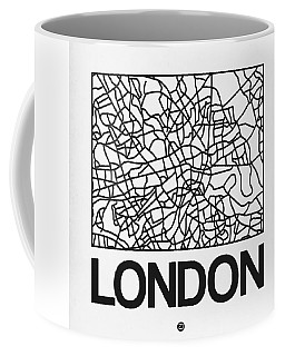 White Map Of London Coffee Mug