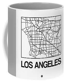 White Map Of Los Angeles Coffee Mug
