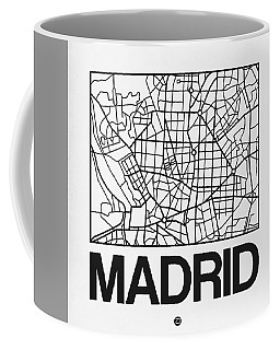 White Map Of Madrid Coffee Mug