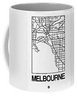 White Map Of Melbourne Coffee Mug