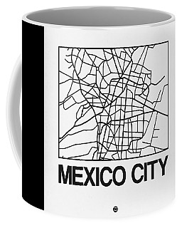 White Map Of Mexico City Coffee Mug