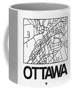 White Map Of Ottawa Coffee Mug
