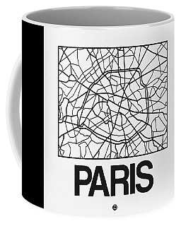 White Map Of Paris Coffee Mug