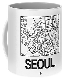 White Map Of Sao Paulo Coffee Mug