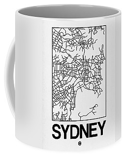 White Map Of Sydney Coffee Mug