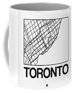 White Map Of Toronto Coffee Mug