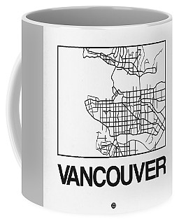 White Map Of Vancouver Coffee Mug