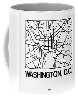 White Map Of Washington, D.c. Coffee Mug