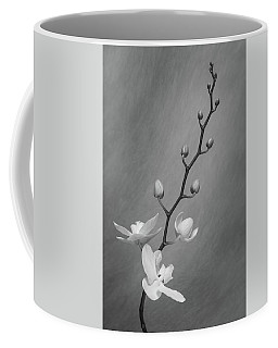 White Orchid Buds Coffee Mug