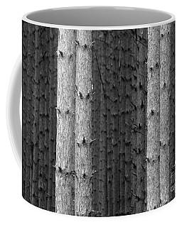 White Pines Black And White Coffee Mug