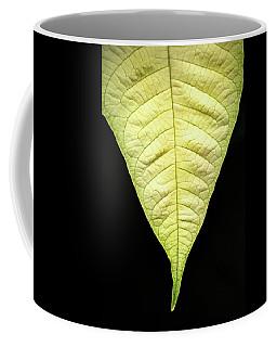 White Poinsettia Leaf Coffee Mug