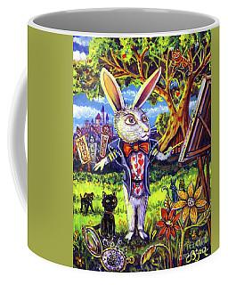 White Rabbit Alice In Wonderland Coffee Mug