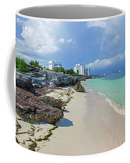 White Sandy Beach Of Cancun Coffee Mug