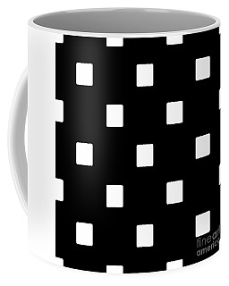 White Squares On A Black Background- Ddh576 Coffee Mug