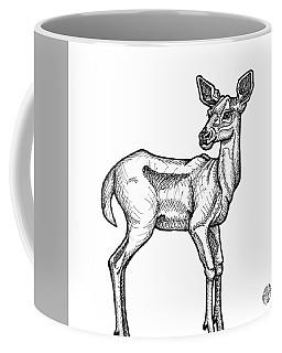 White Tailed Doe Coffee Mug